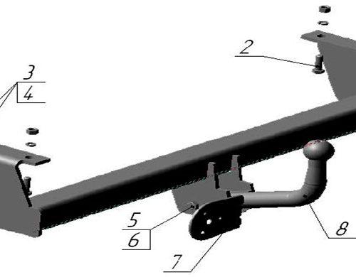 Фаркоп zil-01 на ЗиЛ 5301