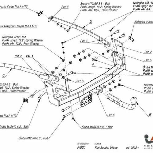 Фаркоп Imiola F.020 Citroen C8 2005-2010, FIAT Ulysse II 2002-2010, Lancia Phedra 2002-2010, Peugeot 807 2002-2010